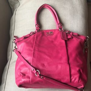 Coach NWOT leather Madison collection satchel
